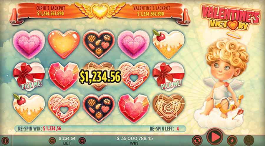 Valentine's Victory slot machine game
