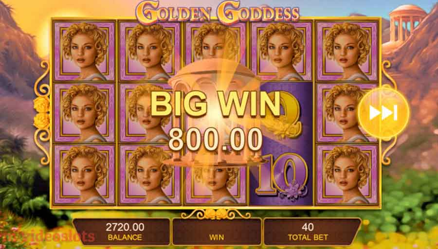 Golden Godess slots machine - Play slots Online GOGBETSG2