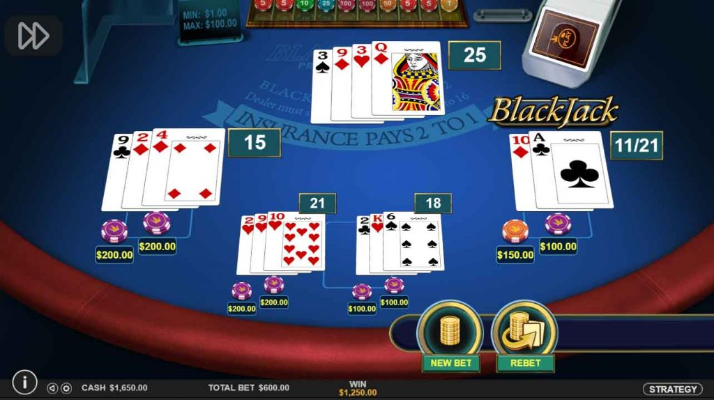 Multi-Hand Blackjack2