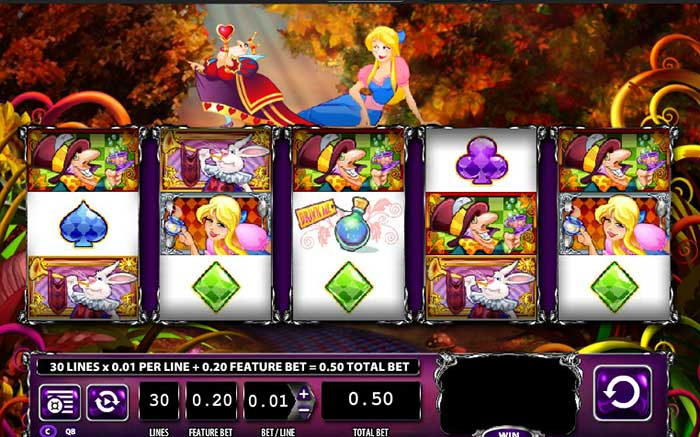 Alice & The Mad Tea Party Slot features