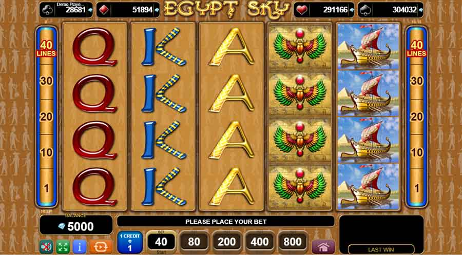 Egypt Sky Slot machine features
