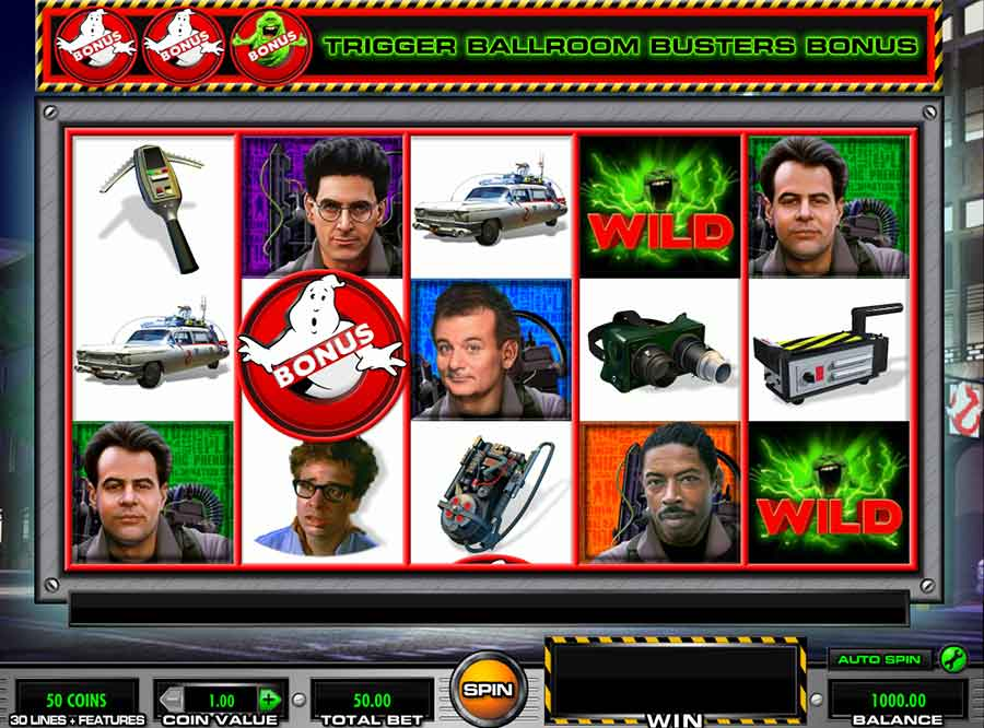 Ghostbusters Slot Machine symbols and features