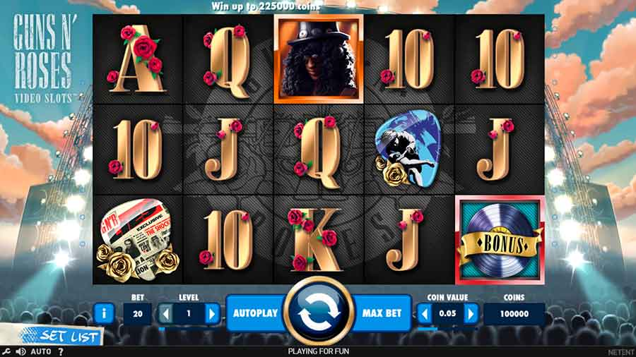 Guns N' Roses Slot Machine features
