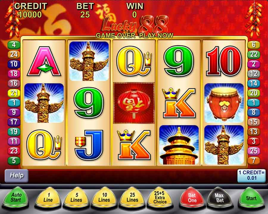Lucky 88 Slots features