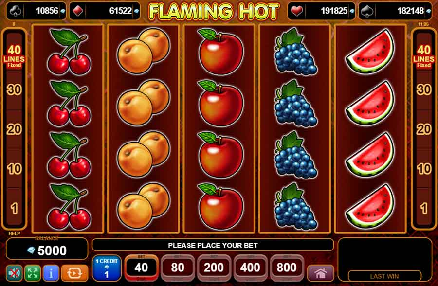 Flaming Hot Slot symbols and features