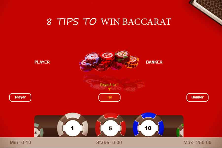 8 Tips to Win at Baccarat