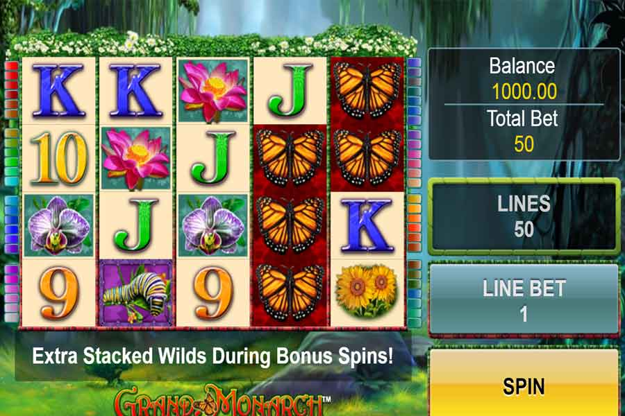 Grand Monarch Slot Machine symbols and features