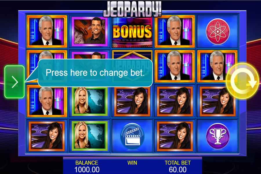 Jeopardy! Slots features and play for real money